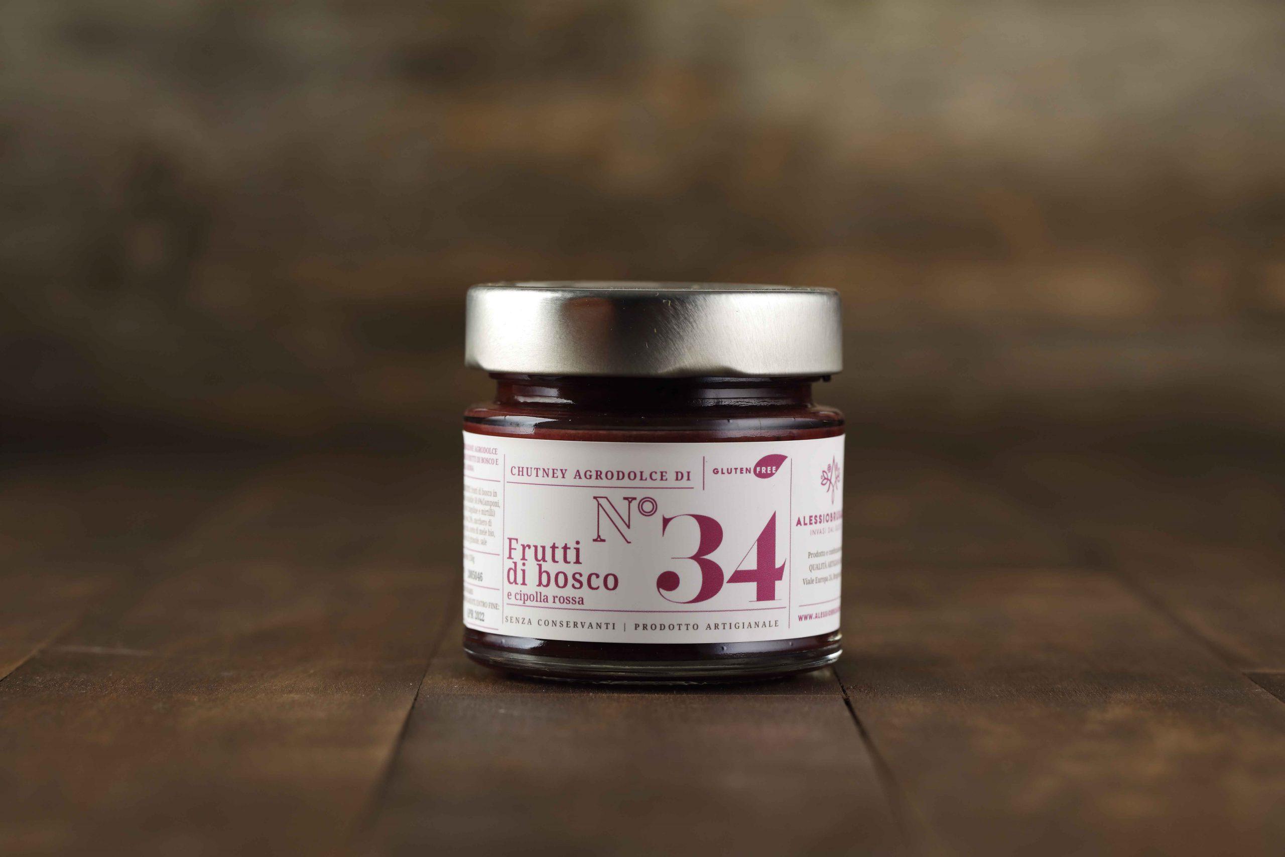 Chutney frutti di bosco e cipolla rossa - Del Ben Formaggi