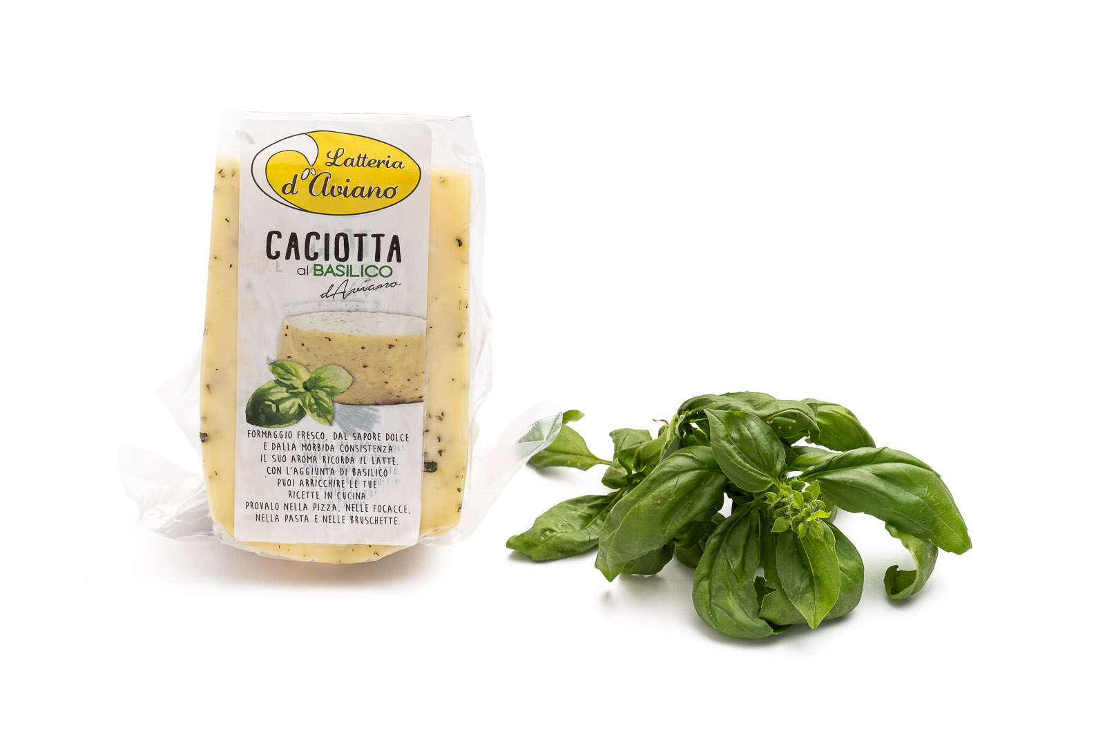 Caciotta d'Aviano basilico - Del Ben formaggi - 300g