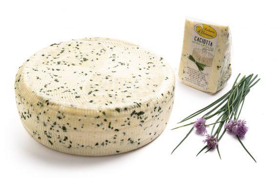 Caciotta d'Aviano erba cipollina - Del Ben formaggi - 2kg