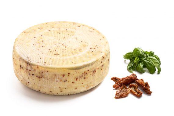 Caciotta d'Aviano pomodoro e basilico - Del Ben formaggi - 4kg