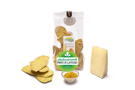 Croccantelle senza lattosio alla curcuma - Snack Del Ben formaggi