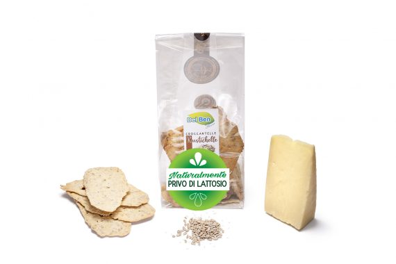 Croccantelle senza lattosio rustichelle - Snack Del Ben formaggi