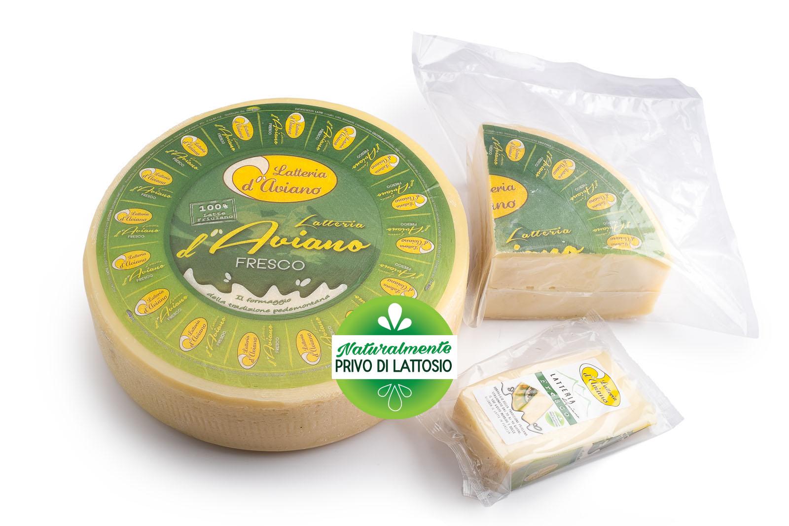 Formaggio - senza lattosio - latteria d'Aviano fresco - Del Ben formaggi