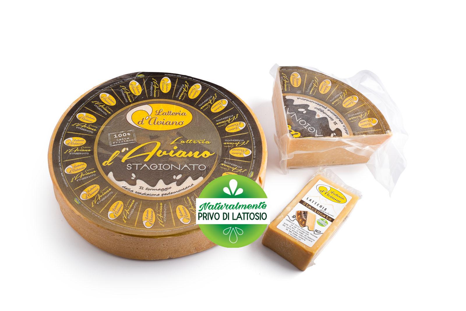 Formaggio - senza lattosio - latteria d'Aviano stagionato - Del Ben formaggi