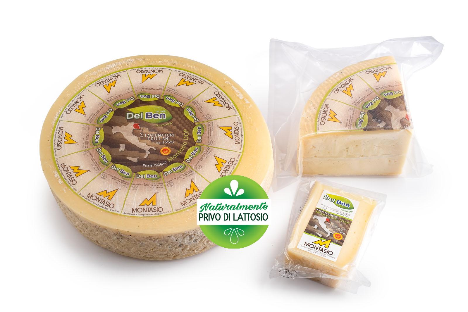 Formaggio - senza lattosio - Montasio fresco - DOP PN casello 208 - Del Ben formaggi