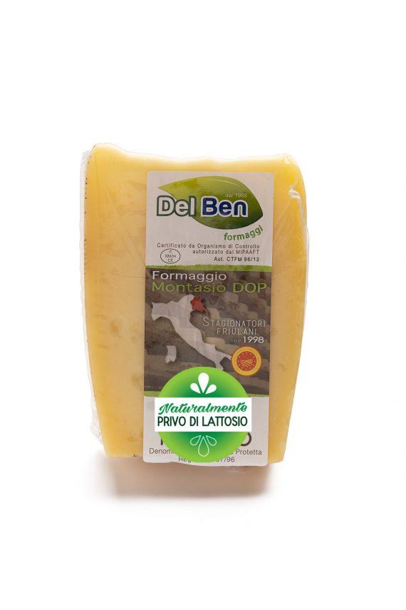 Formaggio - senza lattosio - Montasio mezzano - DOP PN casello 208 - Del Ben formaggi - 300 g