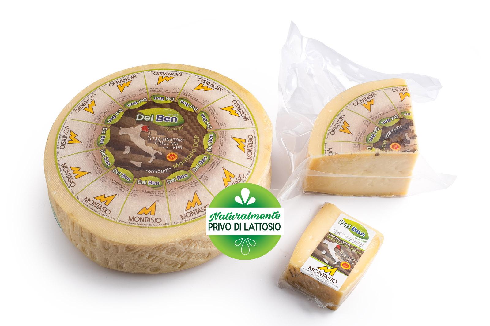 Formaggio - senza lattosio - Montasio mezzano - DOP PN casello 208 - Del Ben formaggi