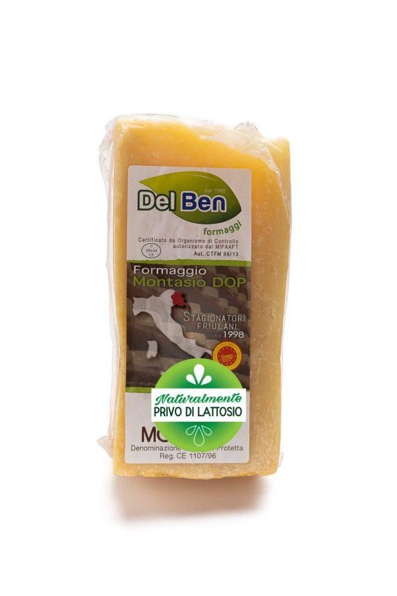 Formaggio - senza lattosio - Montasio stravecchio - DOP PN casello 208 - Del Ben formaggi - 300 g