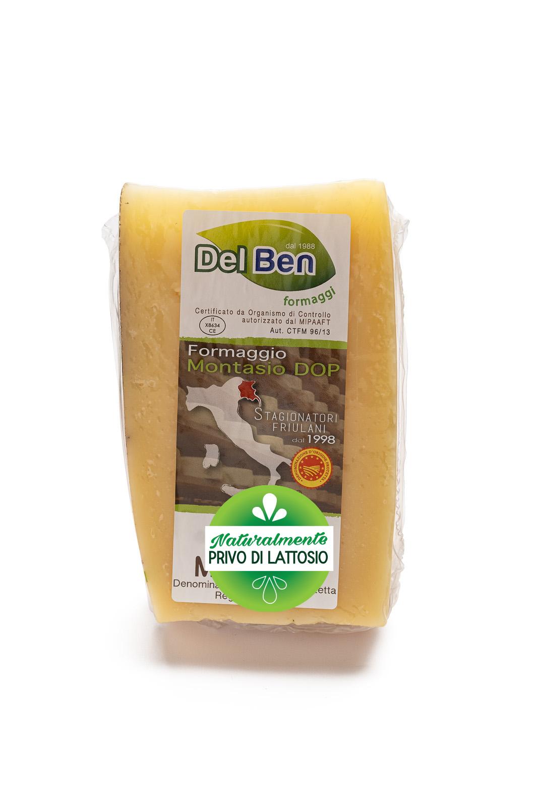 Formaggio - senza lattosio - Montasio vecchio - DOP PN casello 208 - Del Ben formaggi - 300 g