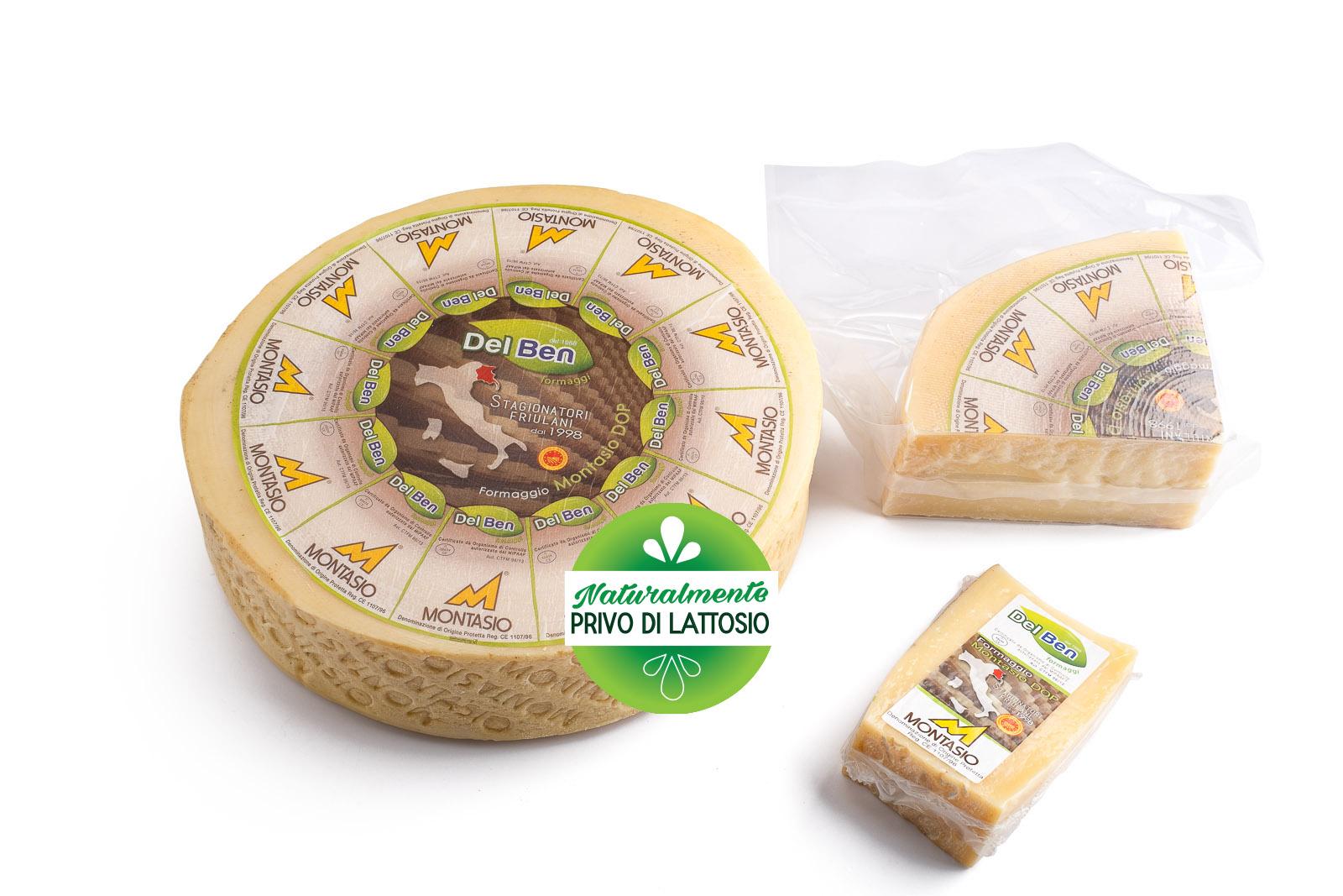 Formaggio - senza lattosio - Montasio vecchio - DOP PN casello 208 - Del Ben formaggi