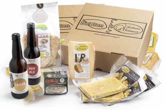 Pacchetto degustazione - Box aperitivo - Del Ben formaggi